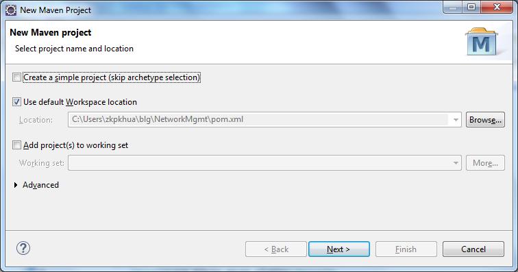 创建Maven应用程序 - 步骤2