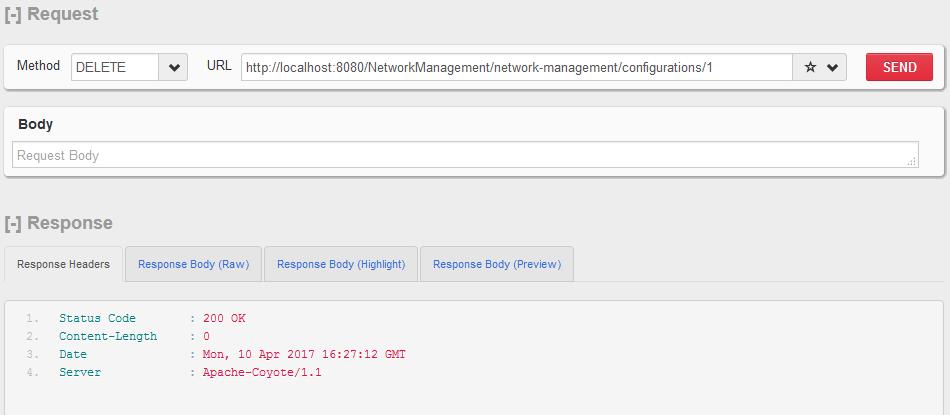 HTTP DELETE  - 单个配置资源