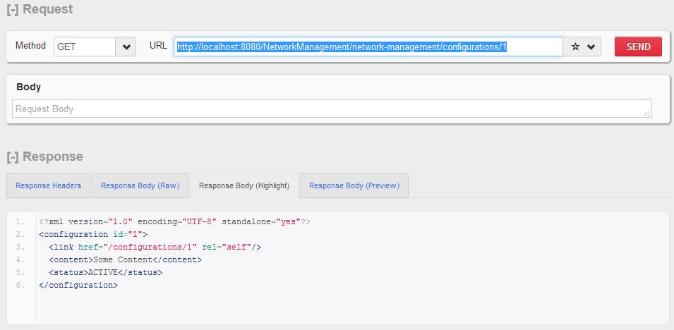 HTTP GET  - 单个配置资源