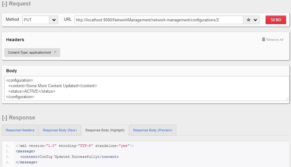HTTP PUT  - 更新单个配置资源